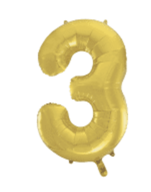 Gold Number Balloon 3